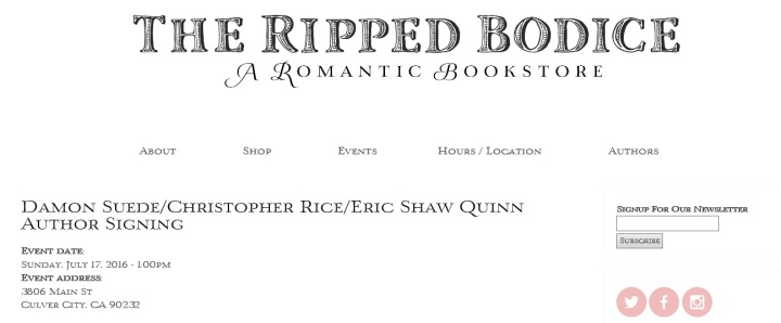 Ripped Bodice Event